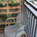 Mur végétal avec une palette - ©lifeonthebalcony.com