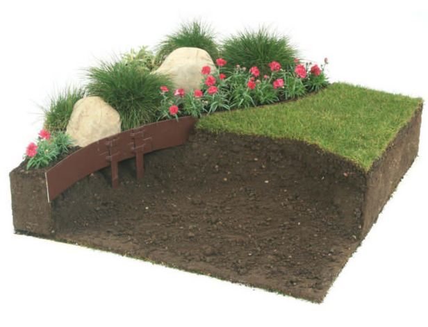 D co bordure pierre fort de france 2231 bordure t1 for Bordure metal jardin castorama