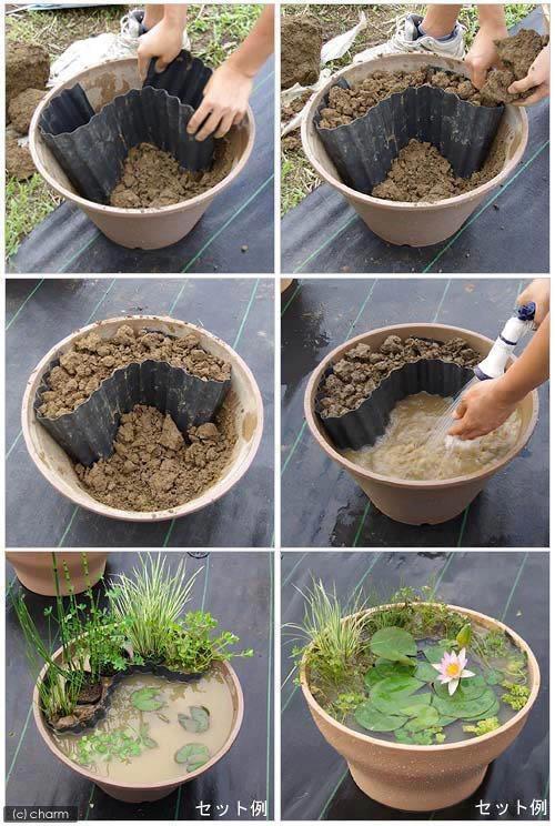 créer un mini bassin de jardin