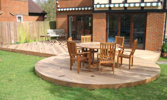 terrasse bois ronde greater london decking terrasses bois circulaires