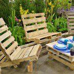 Salon de jardin en palettes - ©buffalo-niagaragardening.com