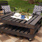 Table basse de jardin en palettes - ©joyeverafter.com