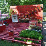 Terrasse de jardin avec des palettes - ©Sophie Savoie capsel.com
