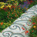 Allée en mosaïque de galets ©inconnu