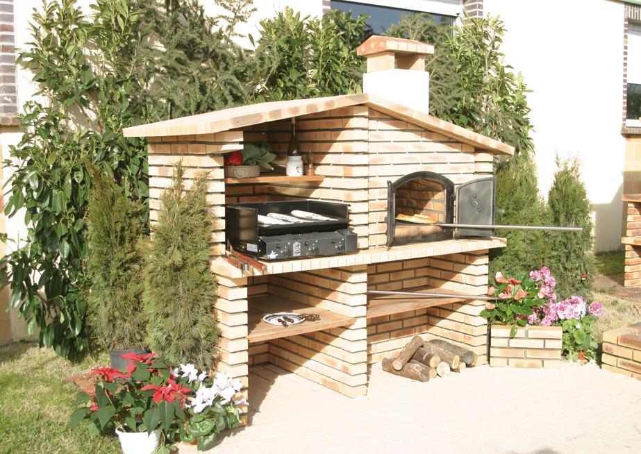Barbecue en briques ©Terreal