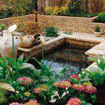 Bassin en pierre reconstituée ©bradstone-jardin.com