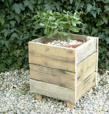 Bac de plantation créé avec une palette ©inconnu