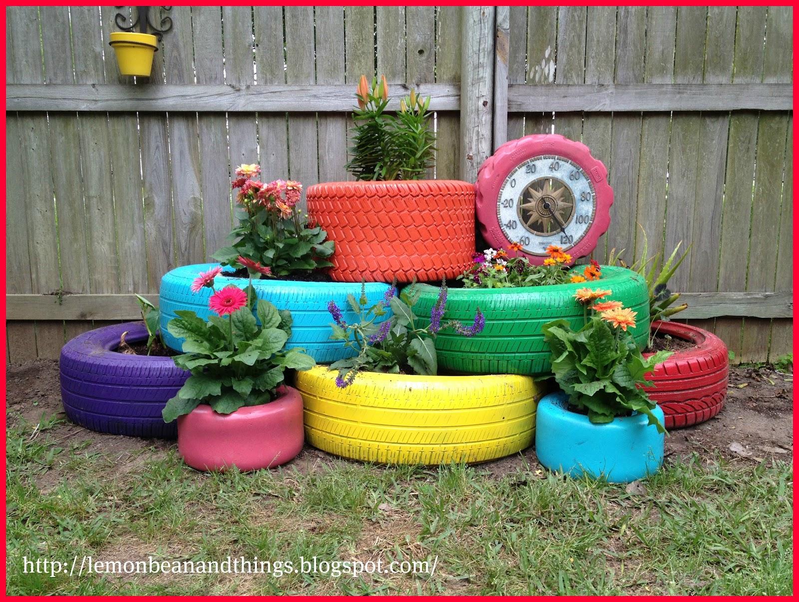 Pot De Fleur Avec Des Pneus 9 fa�ons de cr�er soi-m�me des pots pour son jardin