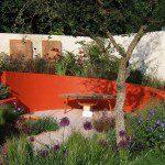 Muret de jardin rouge ©ugardener-Flickr (Creative Commons)
