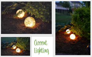 Boules lumineuses faites avec des globes remplis de guirlandes électriques ©babyfoodscoops.com