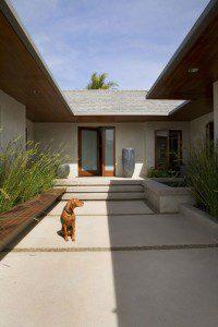 Lignes de gravillons pour diviser une terrasse ©Tim Clarke Design/houzz.com