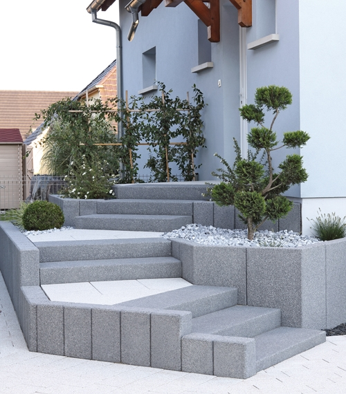18 solutions pour cr er un escalier ext rieur for Bloc ciment