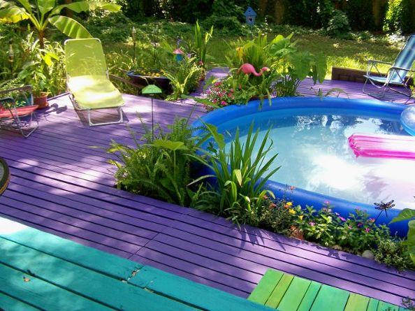 9 astuces pour dynamiser votre terrasse for Peinture terrasse bois