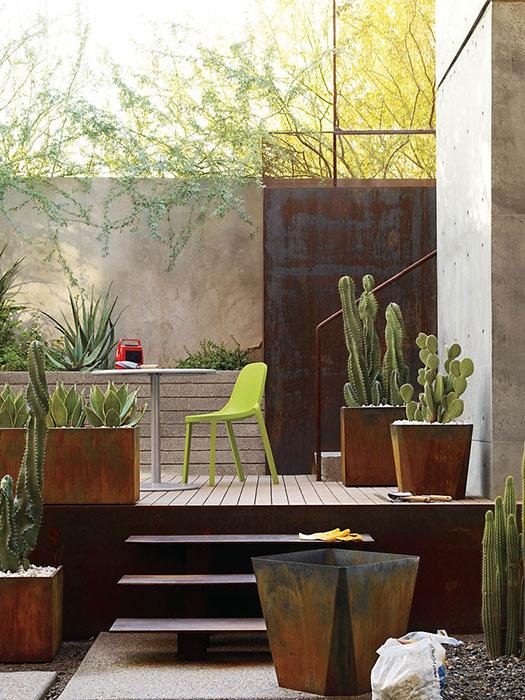 9 astuces pour dynamiser votre terrasse. Black Bedroom Furniture Sets. Home Design Ideas