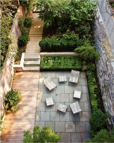 comment am nager une cour comme un jardin. Black Bedroom Furniture Sets. Home Design Ideas