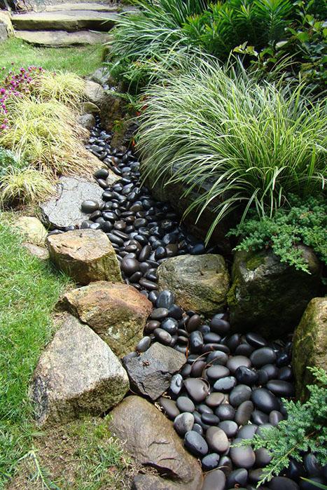 Graminées sur les rives d'une rivière sèche ©Serenityinthegarden.blogspot.com