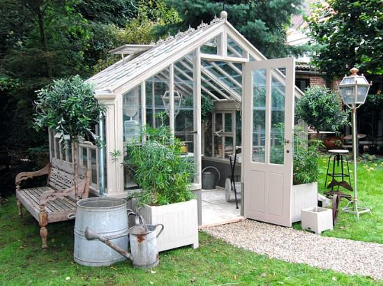 Toutes les id es pour cr er un jardin vintage for Serre de jardin ancienne