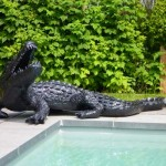 Statue de crocodile noire ©Texartes.eu