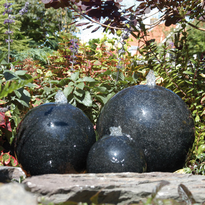 awesome decoration jardin boule pierre ideas ridgewayng On boule ceramique decoration jardin