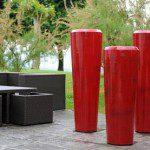 Modèles élancés et émaillés couleur rouge ©Poterie-goicoechea.com