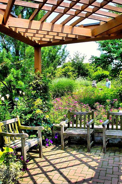 Espace partiellement dissimulé par des plantes ©Frank Thompson Photos – Flickr (Creative Commons)