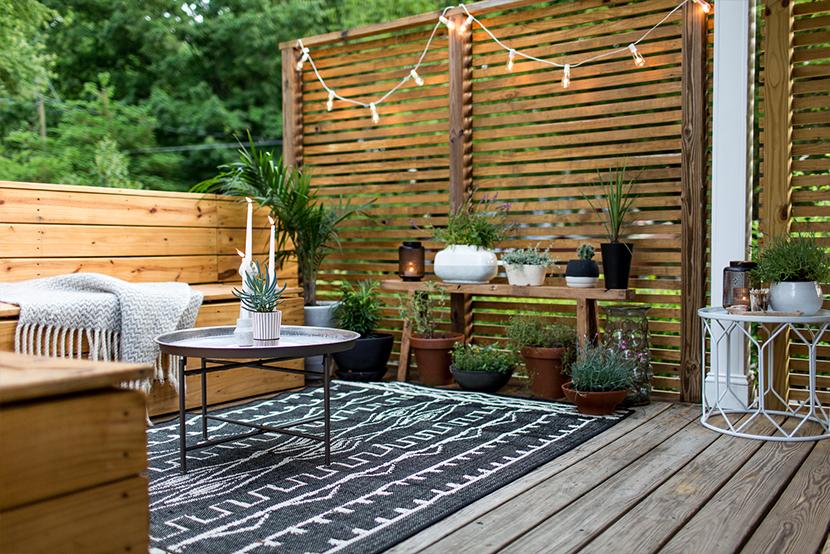 Aménagement d'une terrasse de 10m2 ©thefreshexchange.com