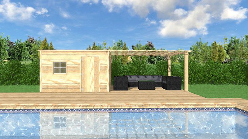 amnager un abri de jardin ralisez la structure abri de jardin allier le pratique l. Black Bedroom Furniture Sets. Home Design Ideas